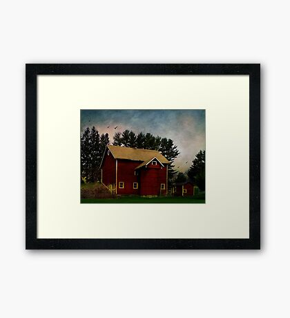 Happiness is an Old Barn Framed Print