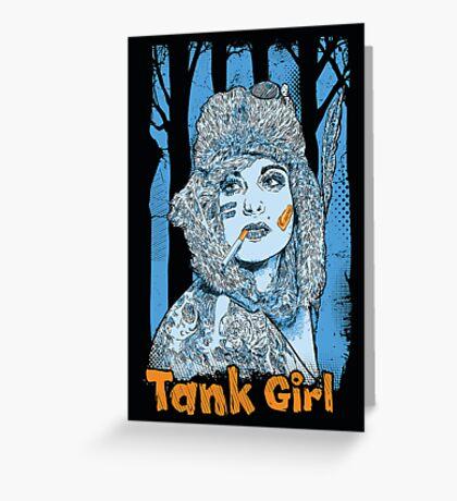 Tank Girl Greeting Card