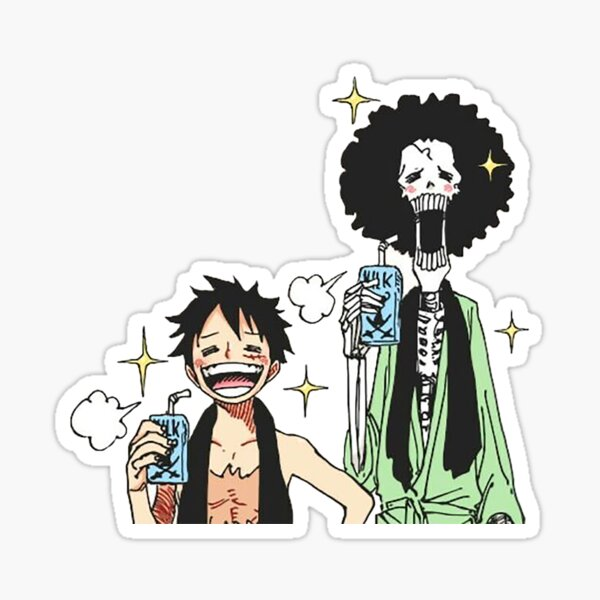 Luffy & Brook Sticker