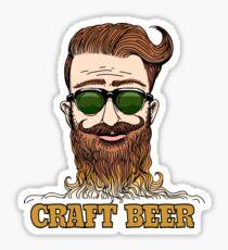 Hipster Craft Beer Theme Sticker