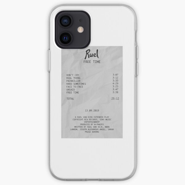 Ruel Free Time EP Receipt iPhone Soft Case