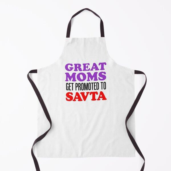 Great Moms Promoted To Savta Jewish Grandfather Apron