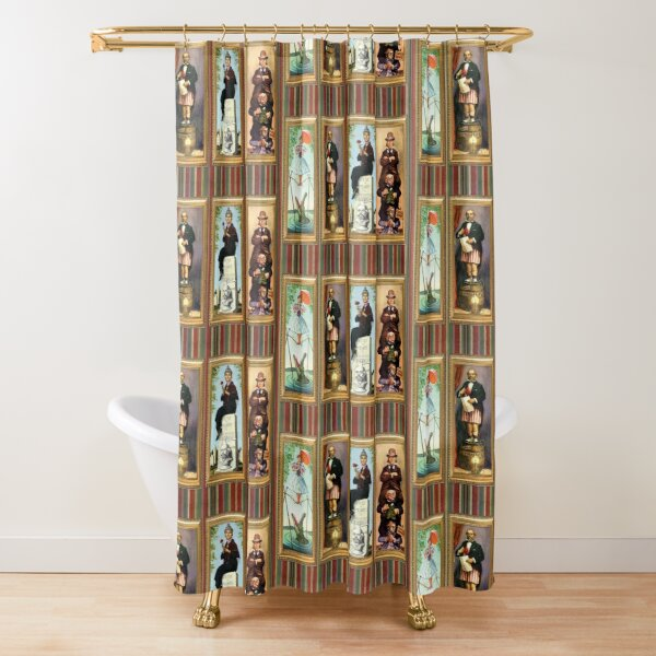 Stretching Room Portraits Shower Curtain