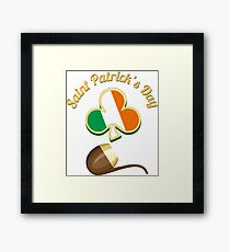 Saint Patricks Day Theme Framed Print