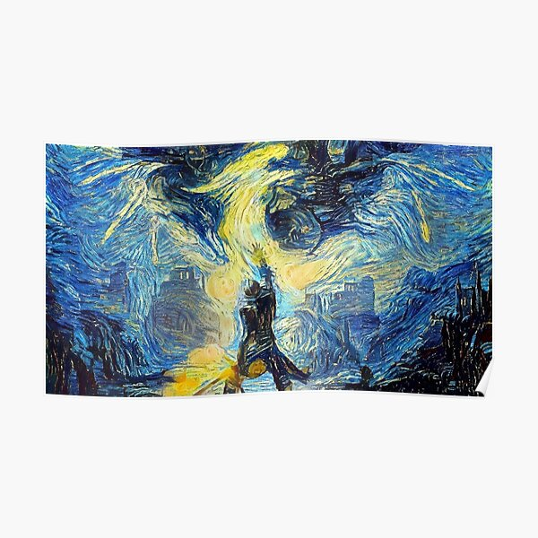 Dragon Age Inquisition Starry Night Poster