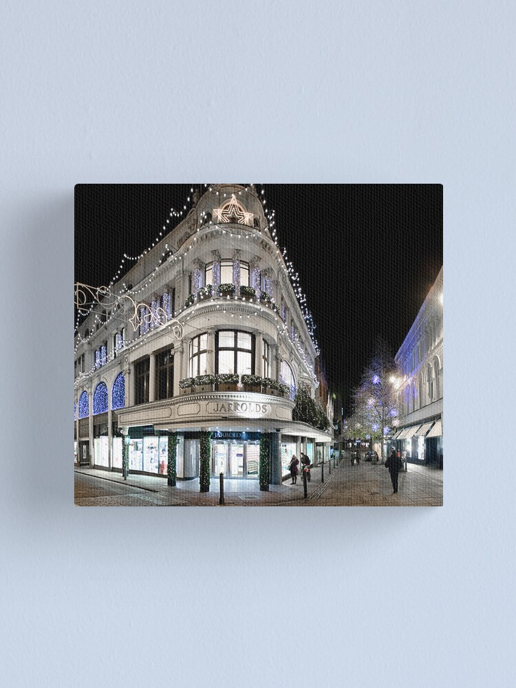Alternate view of Jarrolds Dressed for Christmas Canvas Print