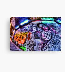 Masked graffiti man Canvas Print