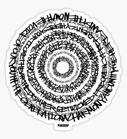Hip-Hop Origins Tee (Black Writing) Sticker