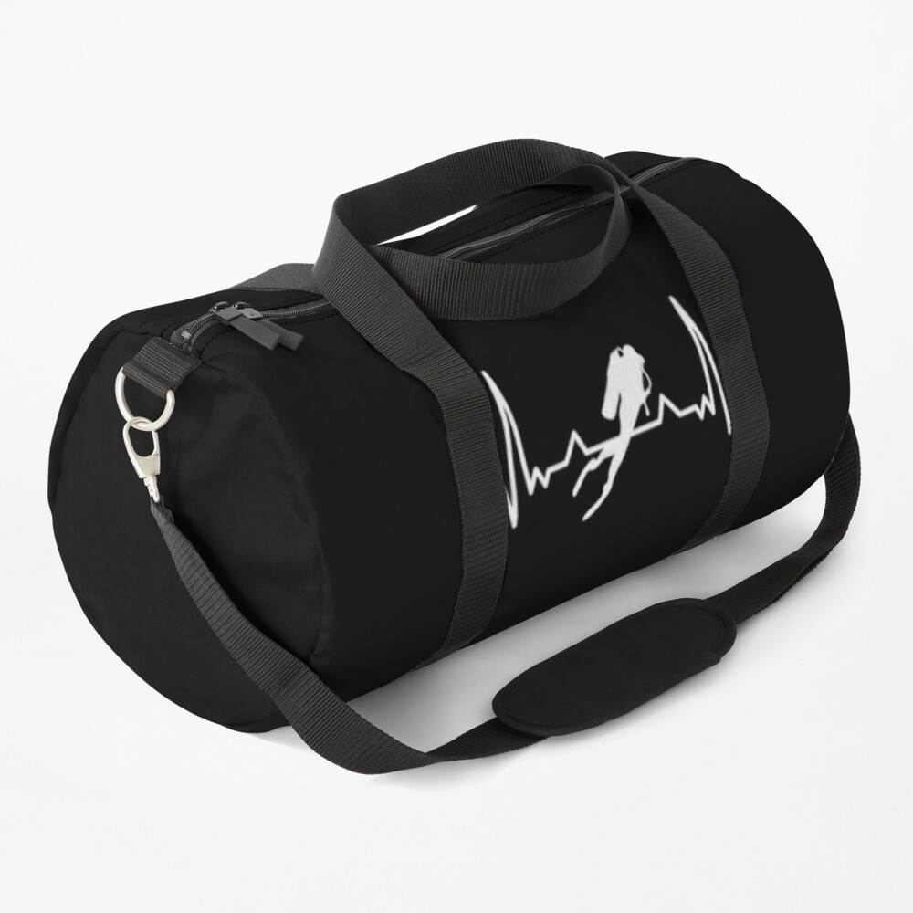 Diving Heartbeat Sea Dive Gift for Diver Duffle Bag