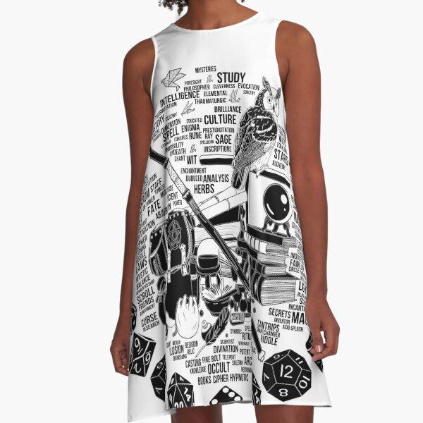 RPG Class Series: Wizard - Black Version A-Line Dress