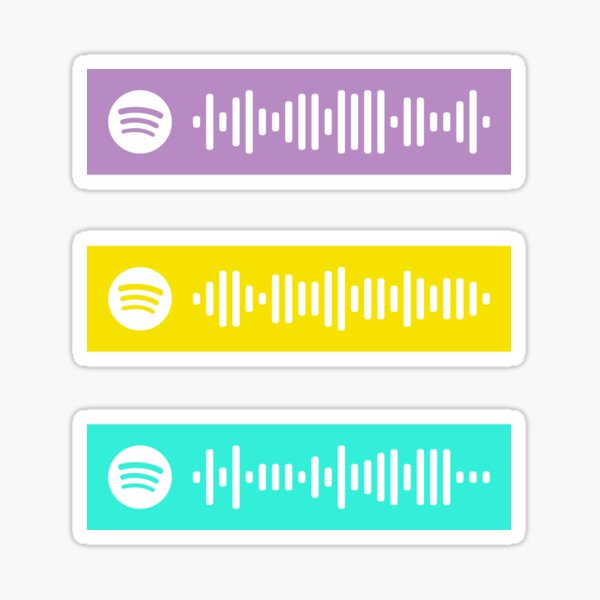[TVD] Feel so close, Hunger, Take on the world spotify codes Sticker