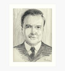 John Bates of Downton Abbey Art Print