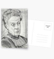 Countess Violet Crawley of Downton Abbey Postkarten