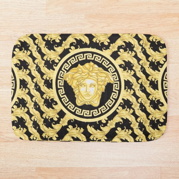 VERSCE TYPE VINTAGE RETRO BAROQUE PILLOW / T-SHIRTS / MASK / BAGS / OTHER PRODUCTS TRENDY 2020 Bath Mat