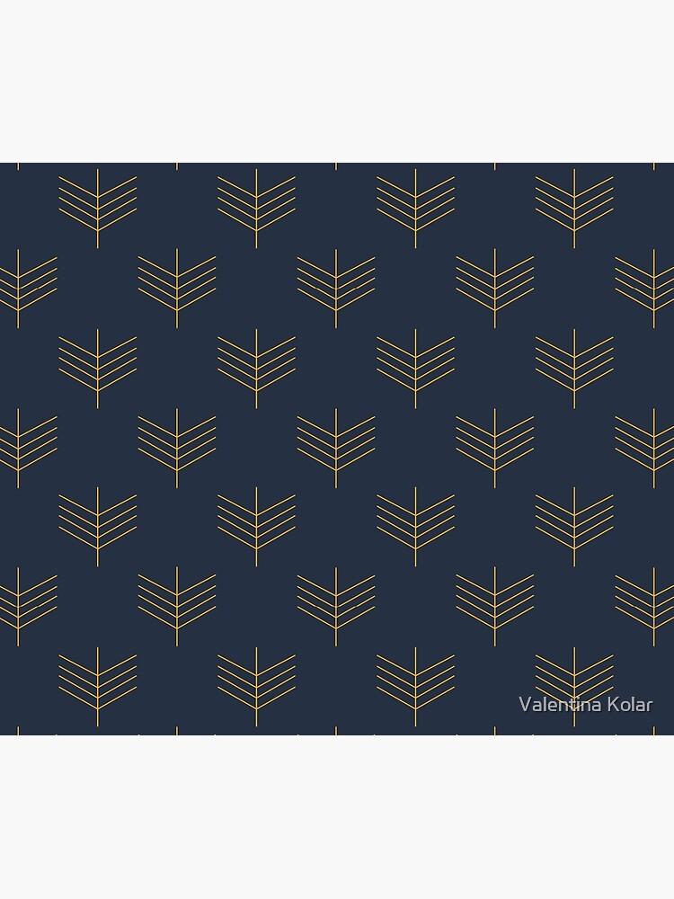 Navy blue art deco pattern by valekica