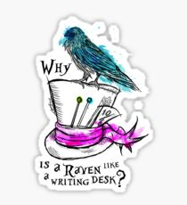 Why is a raven like a writing desk? Sticker