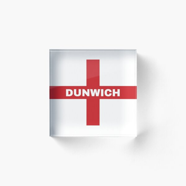 My Home Country Is England and Home City Dunwich  Acrylic Block