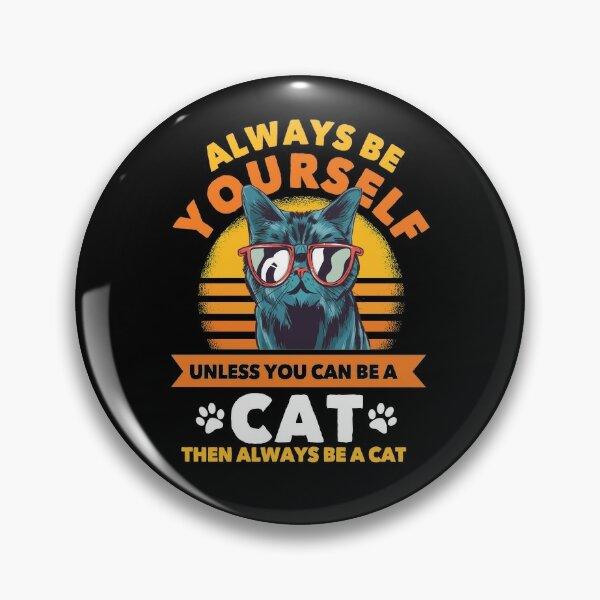 T-Shirt Chats Cadeau Drôle Chat Badge