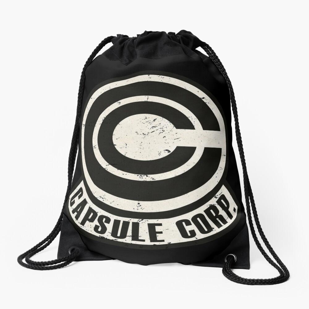 Vintage Capsule corp original logo Drawstring Bag