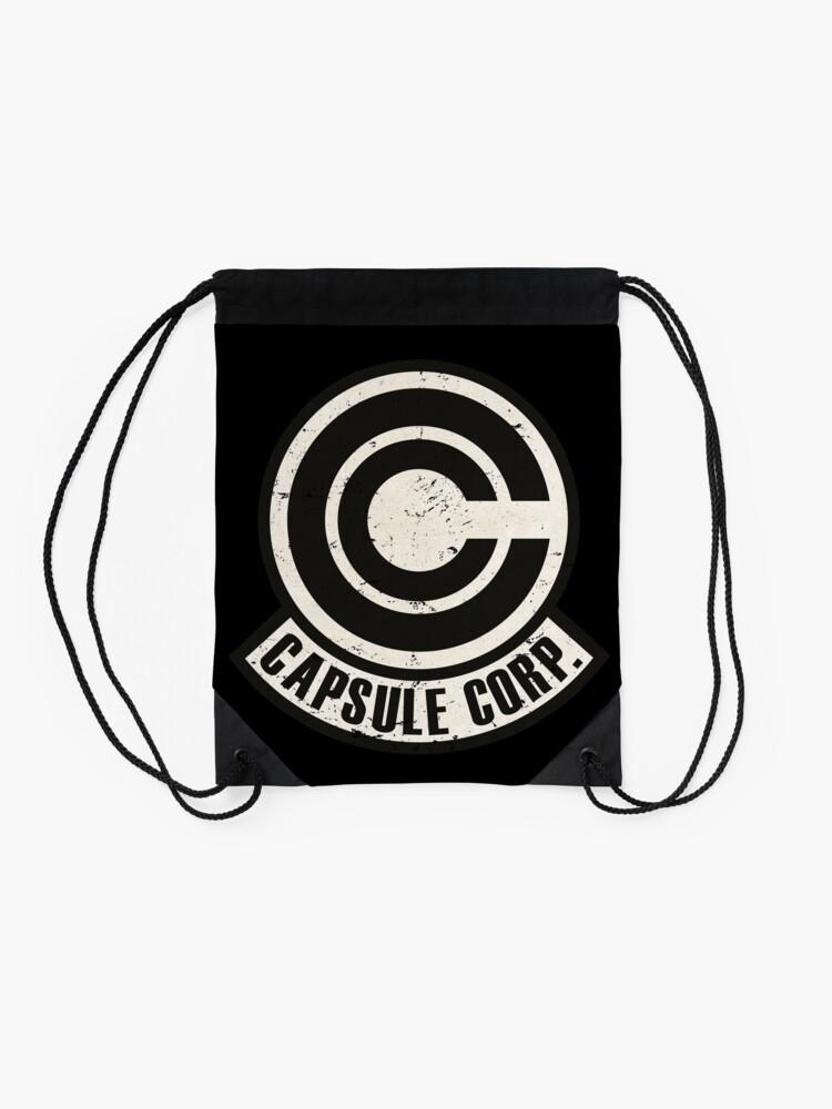 Alternate view of Vintage Capsule corp original logo Drawstring Bag