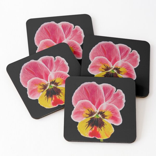Pansy Coasters (Set of 4)