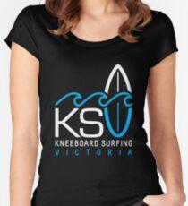 KSV Dark Big Logo Women's Fitted Scoop T-Shirt