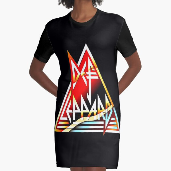 rock red def Graphic T-Shirt Dress