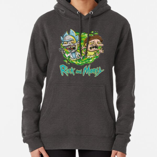 In the Portal - Rick and Morty Pullover Hoodie