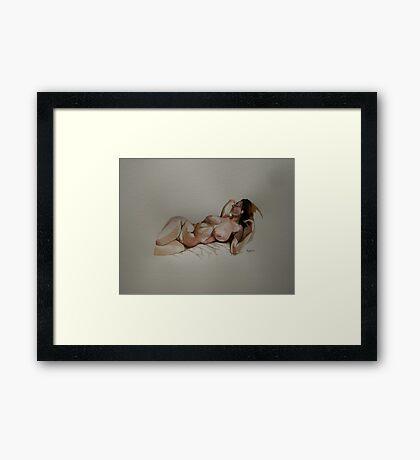 Part sketch for Francesca Framed Print