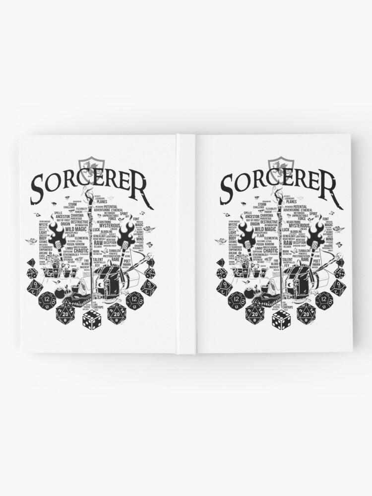 Alternate view of RPG Class Series: Sorcerer - Black Version Hardcover Journal