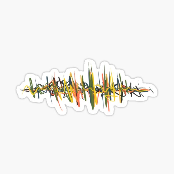 Color Waveform #1 Sticker