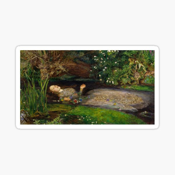Ophelia by John Everett Millais Sticker