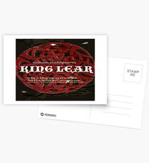 King Lear--As flies to wanton boys... Postcards