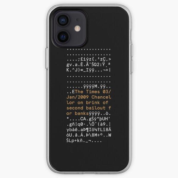 PRIMER BLOQUE DE BITCOIN Funda blanda para iPhone