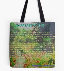 Shakespeare Sonnet 18--Shall I compare thee... Tote bag