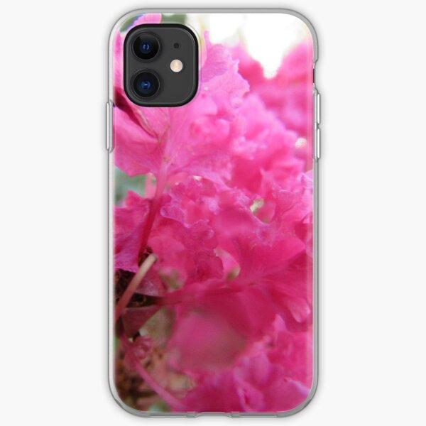 pink bougainvillea flower iPhone Soft Case