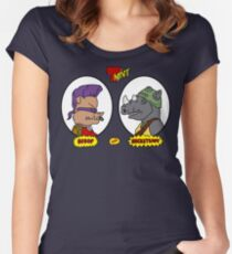 Bebop and Rocksteady Women's Fitted Scoop T-Shirt
