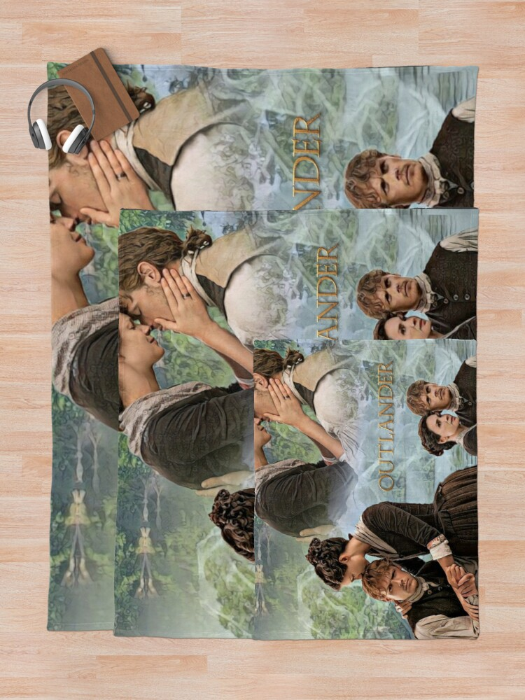 Alternate view of Jamie and Claire Fraser/Outlander Throw Blanket
