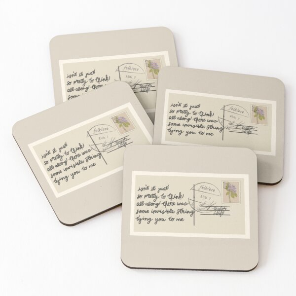 invisible string / Taylor Swift folklore Coasters (Set of 4)