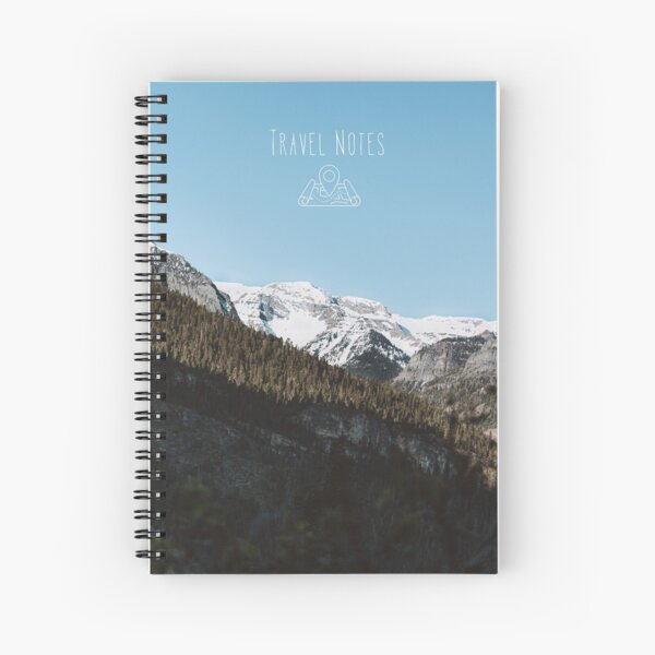 Rocky Mountain Portrait Travel Notes Spiral Notebook