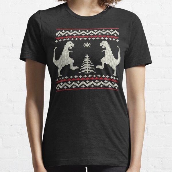 Ugly Christmas Dinosaurs Essential T-Shirt