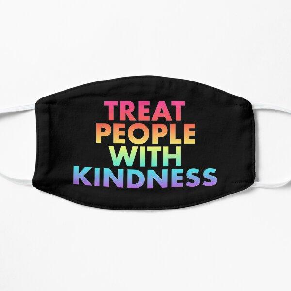 Rainbow Treat People With Kindness Flat Mask