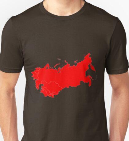 Soviet Union Map T-Shirt