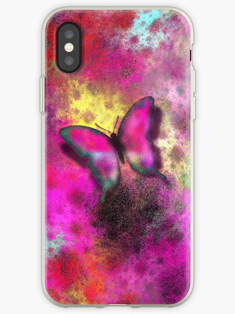 Phone case - Pink butterfly by Annabellerockz