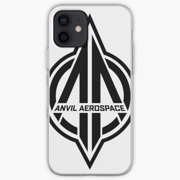 Copy of Anvil Aerospace Star Citizen Logo Black iPhone Soft Case