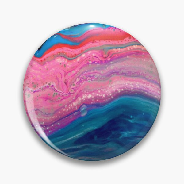 """Galaxy Agate"" Acrylic Pour  Pin"