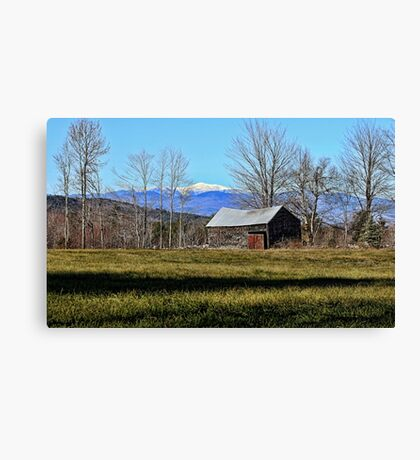 Snow-Capped Mount Washington Canvas Print