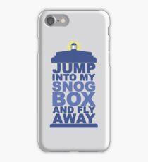 Snog Box (Tardis) iPhone Case/Skin
