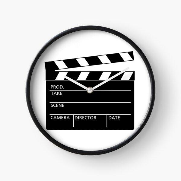 Clapperboard Movie Slate Clock