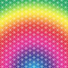 Flower of Life - Rainbow by Steven Nicolaides